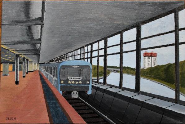 """Victoria Aleksandrovna Oleinikova. Metro station """"Vorobyovy Gory"""""""
