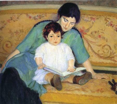 Констанс Стюарт Ларраб. Мать с ребенком