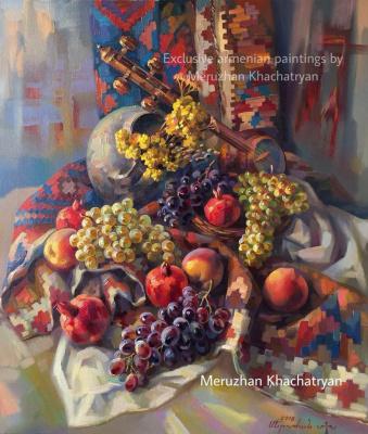 Meruzhan Khachatryan. Armenian still life with grapes