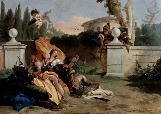 Джованни Баттиста Тьеполо. Убальдо и Карло, застигающие Ринальдо и Армиду