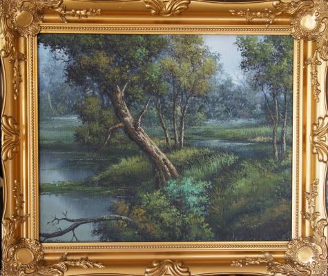 Неизвестный  художник. Лес и озеро (Сутин)
