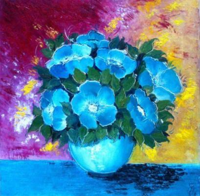 Galina Nikolaevna Silina. BLUE FLOWERS