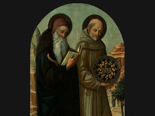 Якопо Беллини. Святой Антоний и Святой Бернардино (фрагмент)