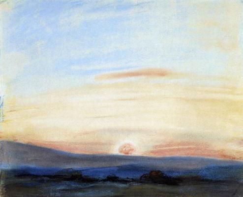 Eugene Delacroix. The setting sun