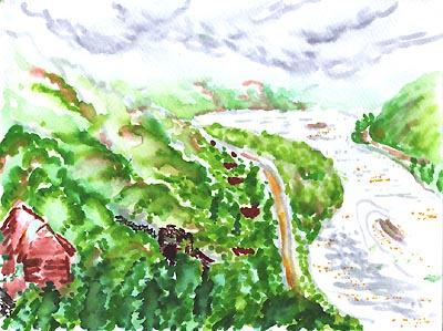 Natalya Garber. River under the mountain