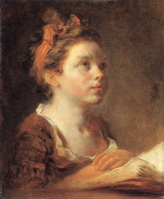 Jean Honore Fragonard. A young student