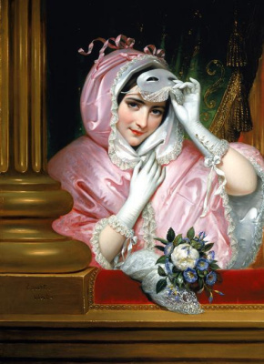 Joseph Désiré Cours. The lady in the mask