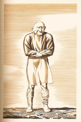"""Rockwell Kent. Cook. Illustration for the book """"Canterbury tales"""" of Geoffrey Chaucer"""