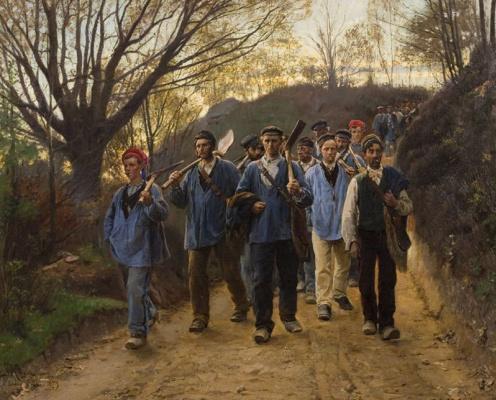Педер Северин Крёйер. Французские рабочие в овраге