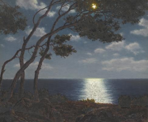 Иван Федорович Шультце. Лунный свет на воде