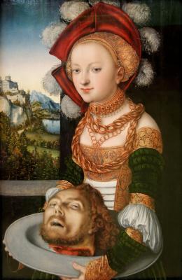 Lucas Cranach the Elder. Salome with the head of John the Baptist