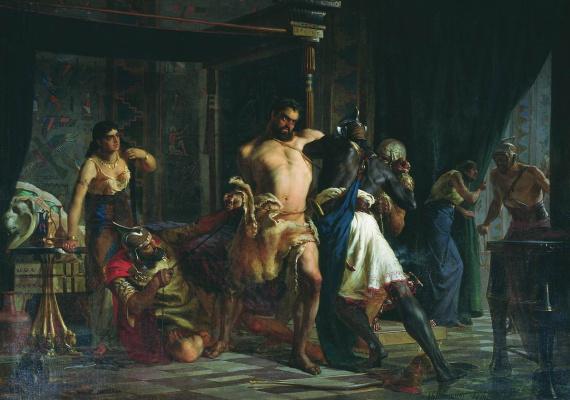 Alexey Danilovich Kivshenko Russia 1851-1895. Samson and Delilah. 1876
