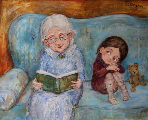 Нино  Чакветадзе. С бабушкой