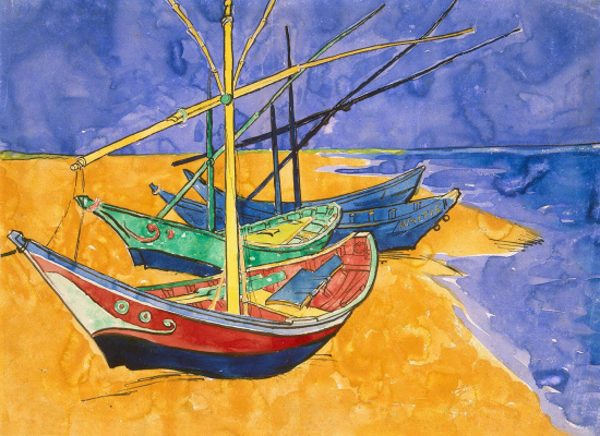 Vincent van Gogh. Boats at Saintes-Maries