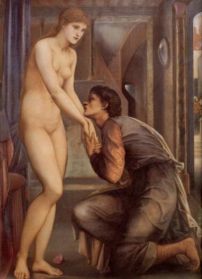 Edward Coley Burne-Jones. Pygmalion and Galatea IV: The Merging of Souls