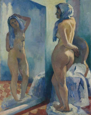 Henri Manguin. Reflection. Nude before a mirror