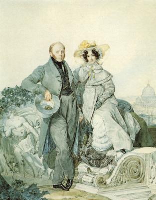Karl Pavlovich Bryullov. Portrait of Grigory and Varvara Olenin.