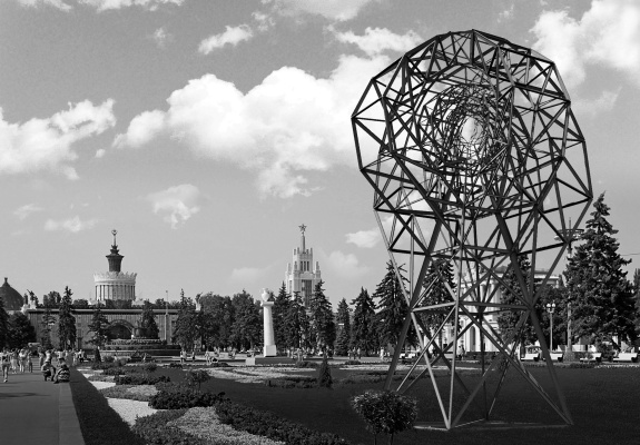 """Nikolai Nikolayevich Sednin. The architectural composition """"the Eye"""" at the all-Russia exhibition centre VDNH"""