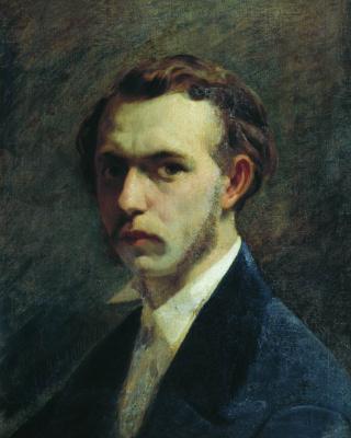 Федор Андреевич Бронников. Автопортрет художника в молодости. 1853