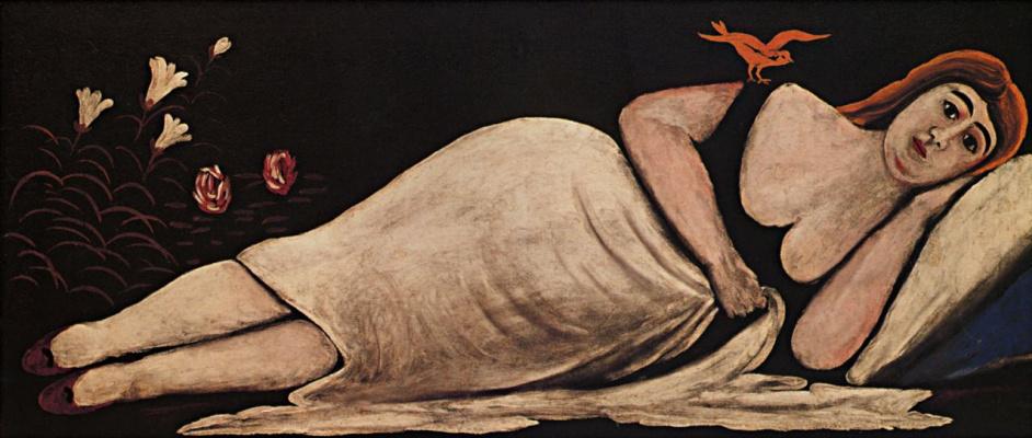 Нико Пиросмани (Пиросманашвили). Ортачальская красавица. Правая часть диптиха
