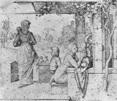 Johann Friedrich Overbeck. Scene from the life of the Roman family