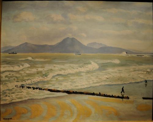 Albert Marquet. Storm in La Goulette (La Goulette. Beach and mountains).