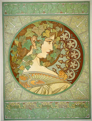 Alfons Mucha. Ivy