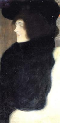 Gustav Klimt. Portrait of a lady with a pale face