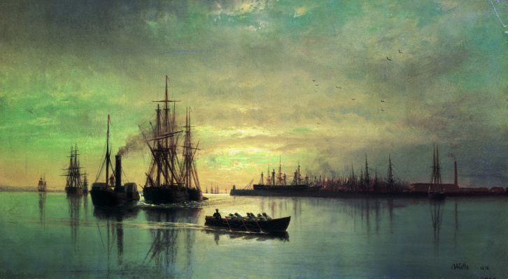 Lev Feliksovich Lagorio. View of the Kronstadt RAID