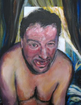 Nikolai margin. Self portrait under mushrooms