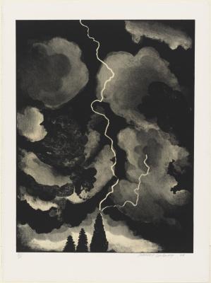 David Hockney. Lightning