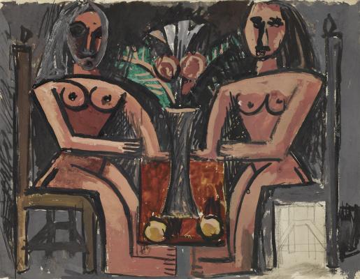 Pablo Picasso. Deux Femmes Assises
