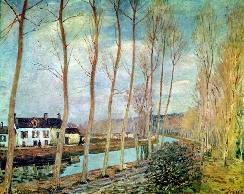 Alfred Sisley. The channel of the Loing