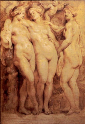 Peter Paul Rubens. The three graces