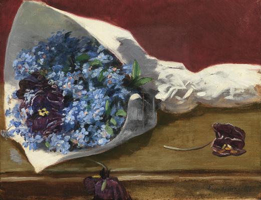 Eva Gonzalez. A bouquet of flowers