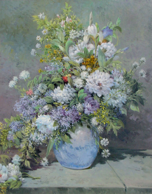 Vasily Ivanovich Gribennikov. Flowers Copy of the painting by Auguste Renoir