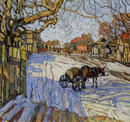 Abram Anshelevich Manevich. Winter sun