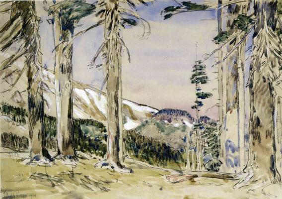 Childe Hassam. The Edge Of Timberline