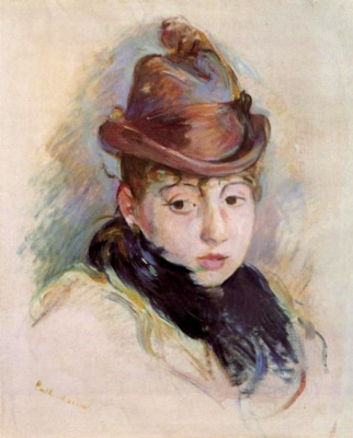 Berthe Morisot. A young woman in a hat