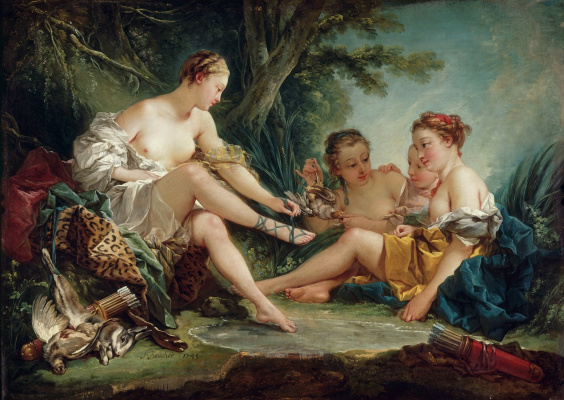 Francois Boucher. Diana after the hunt