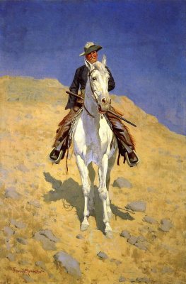 Фредерик Ремингтон. Автопортрет на коне
