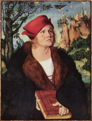 Лукас Кранах Старший. Портрет доктора Иоганна Куспиниана