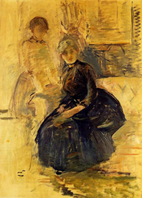 Berthe Morisot. Self portrait with Julie