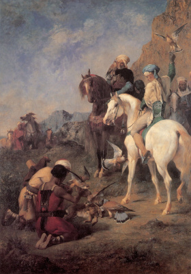 Эжен Делакруа. Соколиная охота в Алжире: добыча