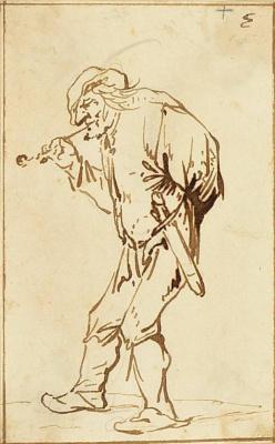 Адриан Янс ван Остаде. Крестьянин с трубкой