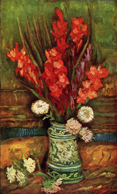 Vincent van Gogh. Vase with red gladioli
