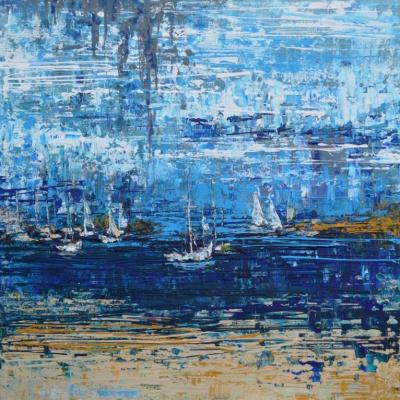 """Tanya Vasilenko. """"Riviera"""", acrylic on canvas. Riviera. Acrylic on canvas."""