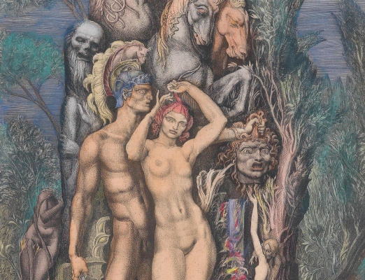 Ernst Fuchs. Venus on the island of death. Fragment I