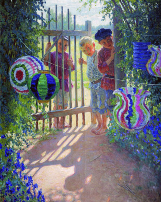 Nikolay Petrovich Bogdanov-Belsky. Visitors