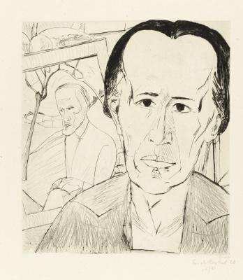 Erich Heckel. Portrait